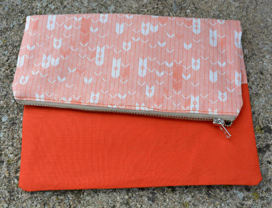 Quilting Fabric Fold Over Clutch