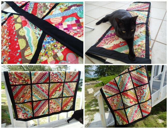 Jelly roll quilt top, made with a single jelly roll and a serger!