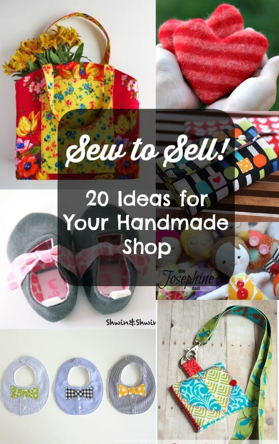 Ideas and tips for sewing for selling. What do you need to consider and links to some great projects that could be good profit-makers.
