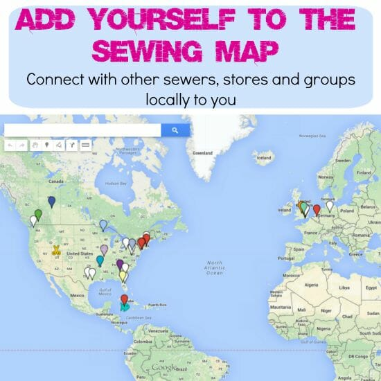 A worldwide sewing map for sewers, groups and fabric stores. Contact a new sewing friend, arrange a sewing meetup or start a new sewing or quilting group locally.