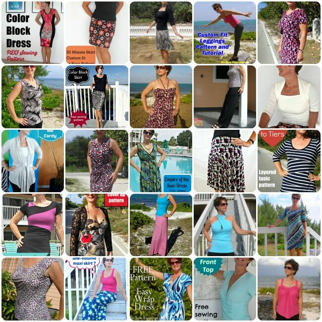 Sewing with Knits collage