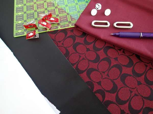 Envelope clutch bag pattern - materials