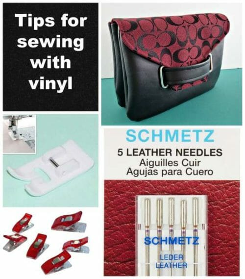 Featured image - tips for sewing with vinyl