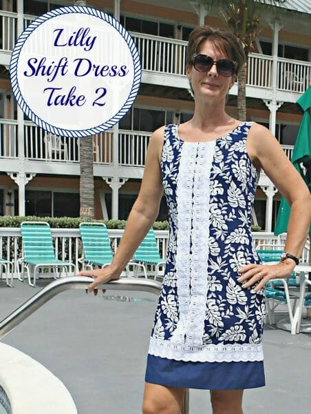dc50236f Sew your own designer dress using the simple Lilly Shift Dress pattern.  Ideas for designer