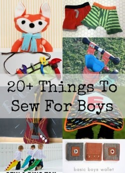 Boys can be a whole lot more difficult to sew for than girls, so here's a round up that gives you some great ideas and sewing inspiration.