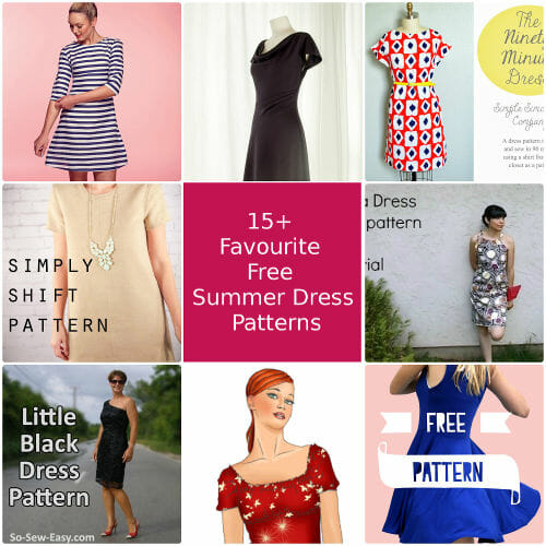 15 Favourite Free Summer Dress Patterns - So Sew Easy