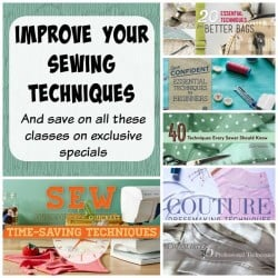 Exclusive offer on So Sew Easy for great savings on all these 'techniques' classes on Craftsy. Limited time offer.
