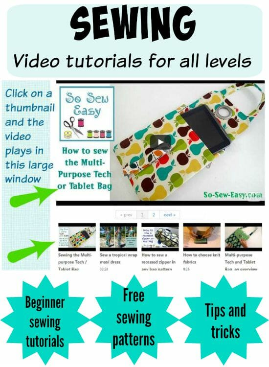 New sewing video tutorials page so you can watch all the videos for free sewing patterns,, tips and tricks, and lots of skills and projects to try.