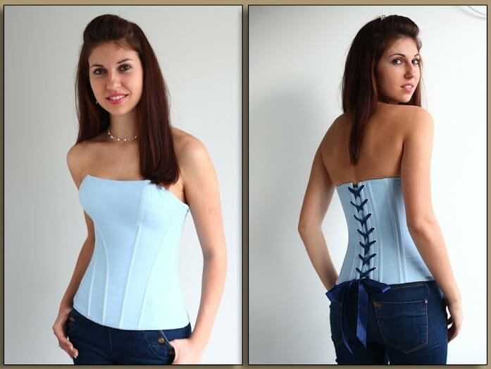 How to sew a corset. Full photo step by step, pattern download and 2 videos.