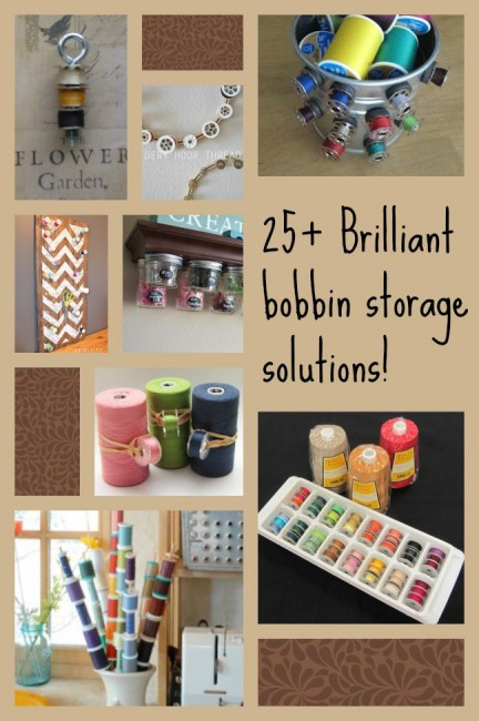 Brilliant bobbin storage solutions. Some genius ideas here and links to some amazing ones you can by too.