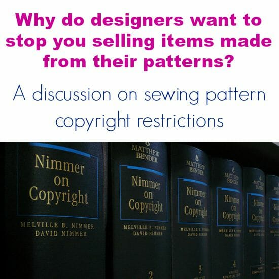 Latest in a series of articles discussing sewing to sell, copyright on patterns and the law.  Very interesting reading.  What do you think?
