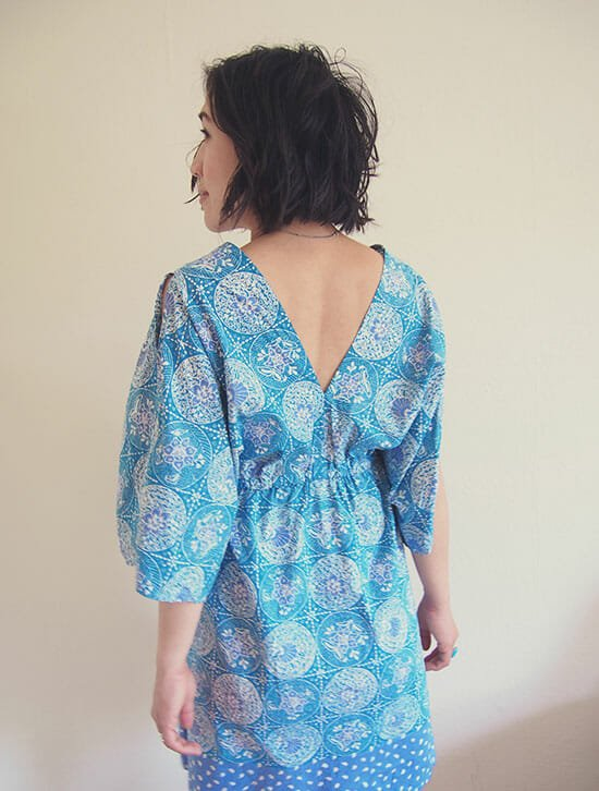 DIY-boho-kimono-dress-free-sewing-pattern-BACK