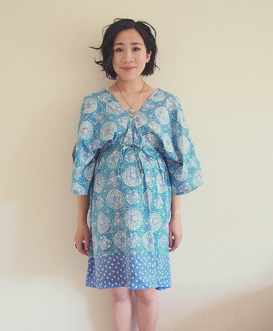 DIY-boho-kimono-dress-free-sewing-pattern-FRONT