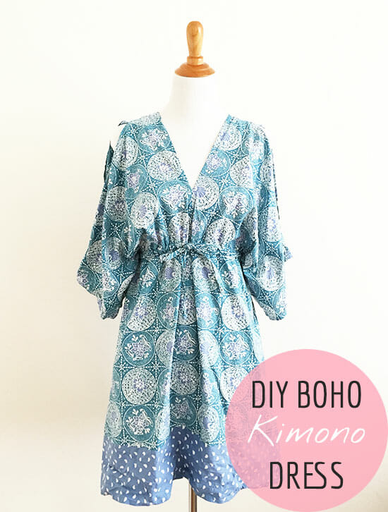 Free Sewing Pattern Boho Kimono Dress Pattern So Sew Easy