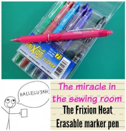 Change your (sewing) life with the Frixion pen for marking on fabric. Marks well and then disappears with heat.