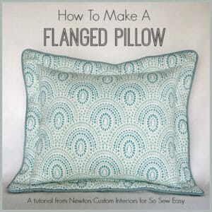 How-To-Make-A-Flanged-Pillow