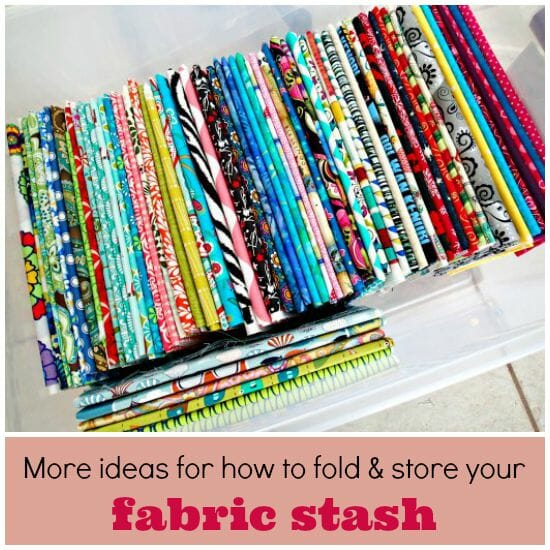More ideas for how to fold and store your fabric stash so you can enjoy looking at it even more :-)