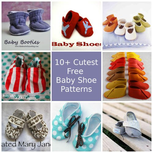 Cutest Free Baby Shoes Patterns. These can be addictive to sew!
