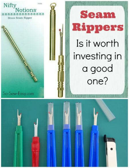 Can you actually save money, time or get better results if you invest in a brass seam ripper? Interesting take on sewing tool quality.