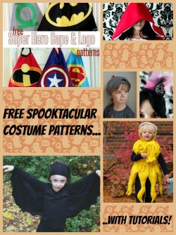 Halloween costumes to sew for kids and adults, all free patterns.