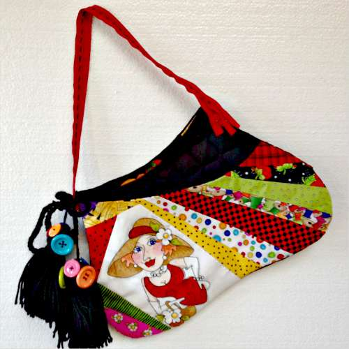 Sew creative bag from Loralie Designs fabrics