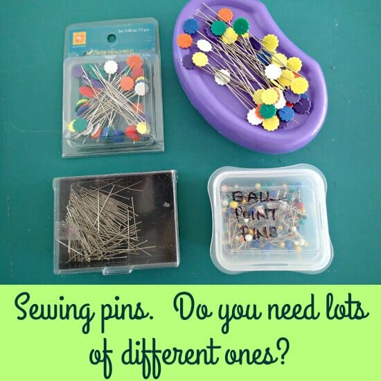 Just how many different types of sewing pins are there, and how many of them do you really need?