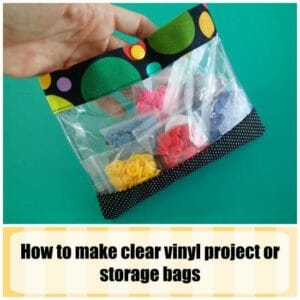 Clear vinyl project pouches
