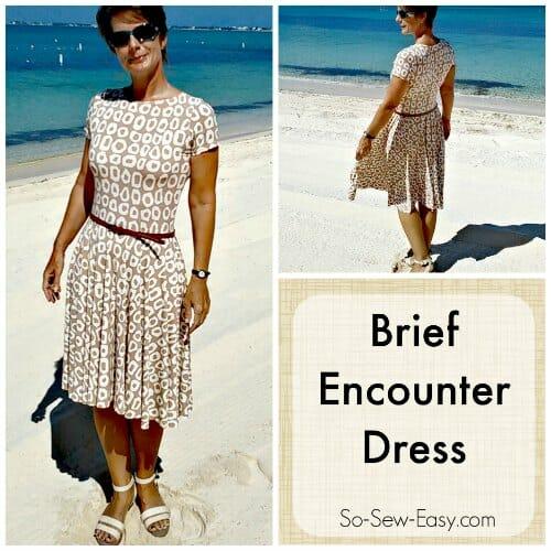 Easy Knit Dress Pattern : Brief Encounter Dress - Free easy dress pattern - So Sew Easy