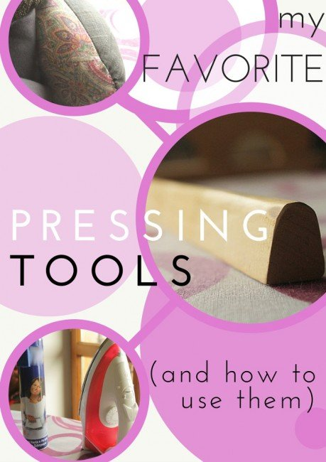 Serger Pepper 4 So Sew Easy - Pressing tools, My favorites and How to use