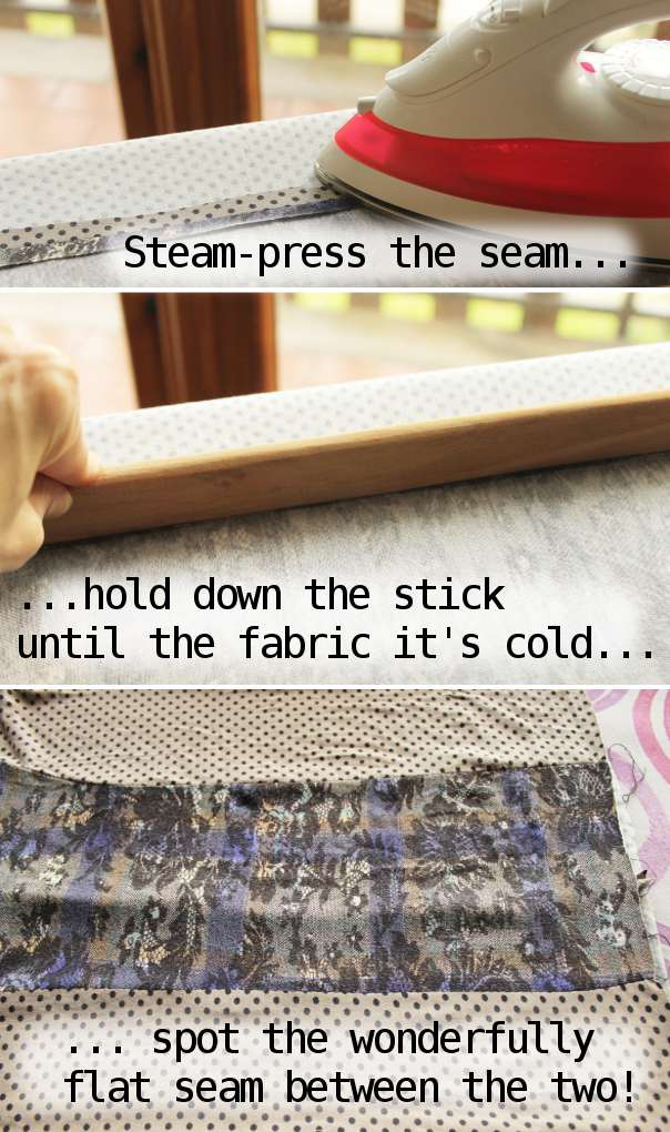 Serger Pepper 4 So Sew Easy - Pressing tools How to use - Press stick as a long clapper