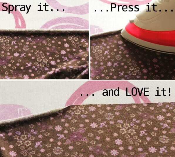 Serger Pepper 4 So Sew Easy - Pressing tools How to use - Spray starch to tame knits