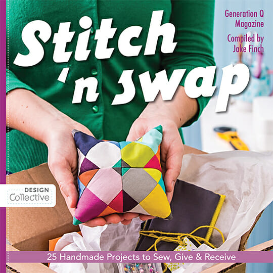 Book review for Stitch and Swap. Book filled with small sewing projects in all sorts of topics for things that you can make as gifts or to sew and swap with others. Details on how to run a sewing swap also included.