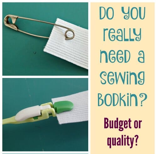 Can you make sewing more fun, quicker or easier by using a quality tool compared to the budget version. Today - the bodkin.