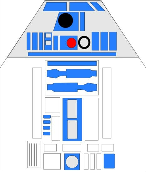 star wars r2d2 apron pattern