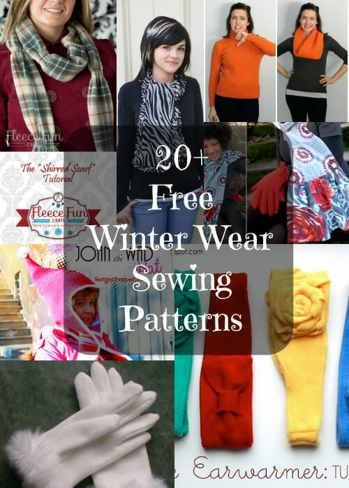 Hats, gloves and scarves to sew for winter