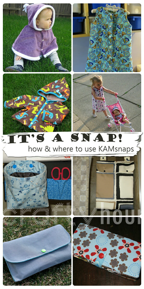 It's a Snap! Where and how to use KAMsnaps - So Sew Easy