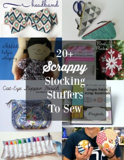 Great ideas here for gifts to sew from scraps and small pieces of fabric. Love some of these projects.