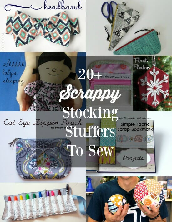 Love these ideas for gift ideas that can be sewn with small pieces of fabric and scraps.  Something for everyone here.