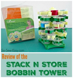 Look at the features of the Stack n Store Bobbin Tower - makes sewing storage more fun