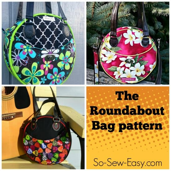 This round bag is so 'on-trend' right now. Looks like a great purse - straight on my sewing to do list.
