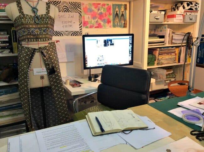 Mayra's sewing space