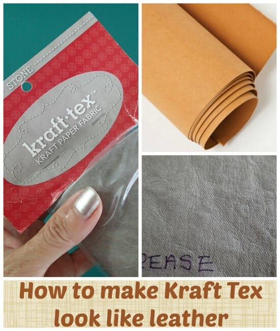 Kraft Tex washing comparison.  Different methods and results on test.  How to make Kraft Tex look like leather.