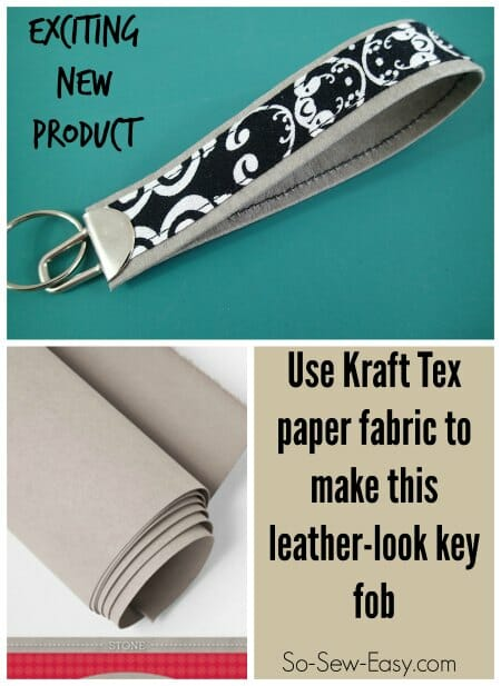 Video on how to use the new Kraft Tex paper fabric to create a leather look key fob.