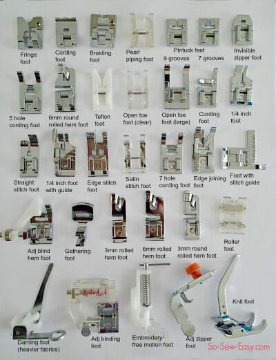 More Presser Feet Than You Will Ever Need So Sew Easy Magnificent Brother Sewing Machine Presser Foot Types