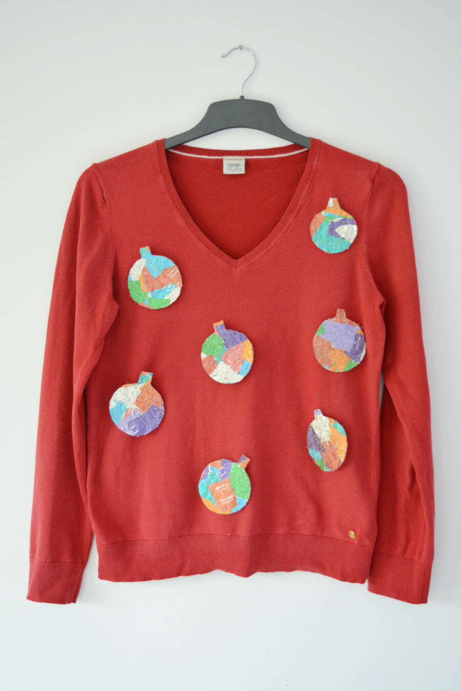 Sweet Wrapper Bauble Christmas DIY Jumper