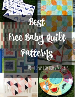 So many perfect baby quilt patterns and all free. From the very simple but striking to more complicated and everything in between. Love the panel quilting ideas.