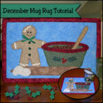 OOh this is so 'sweet'. A Christmas baking gingerbread mug rug pattern. I love how the details and icing are created.