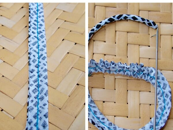fabric covered beaded necklaces- step 8