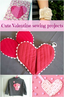 Cute Valentine sewing projects