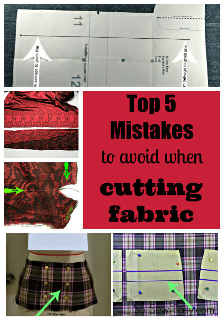 5 mistakes to avoid when cutting fabric